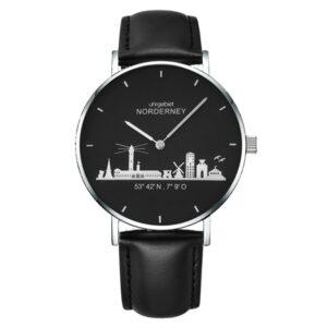 Norderney Uhr Herren 3D schwarz